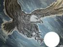 aigle attrapant sa proie (ma peinture gino gibilaro)