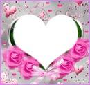 Roses avec coeur