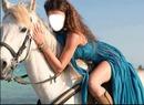femme à cheval