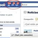 Facebook con solicitudes