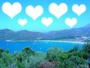 la plage en cœur