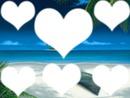 Ile exotique cadre en coeur