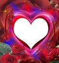 coeur avec les roses 1 photo