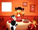 thé et poupée