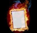 Feuer und Flamme Bilderahmen