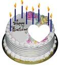 torta con candeline