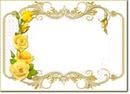 cadre fleur jaune