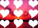 coucher de soleil amoureux