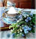 Taza de café y flores 3