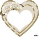 coeu rose blanche