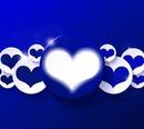 Herz in blue