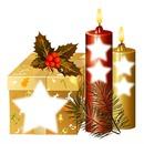 cadeau et bougies de noel