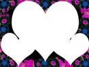 3 coeurs avec des fleurs