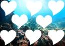 Coeur mer 8 photos