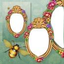 marco con flores