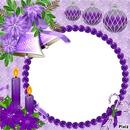 <<cadre violet****