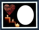 Candle heart love 2