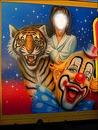 Affiche de cirque-Dompteuse de fauves