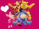 Bourriquet,Porciet,Winnie et Tigrou
