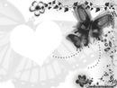 papillon noir et blanc coeur