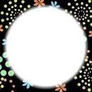 fleurs et cercle