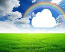 nuage sous arc en ciel