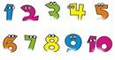 números de 1 á 10