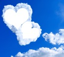 love Herzen n den Wolken