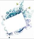 arabesque,fleurs et papillons