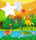 dinosaurios volcan