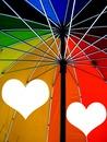 parapluie multicolore -cœurs -2 photos