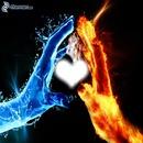 coeur main eau et feu