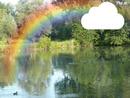 arc en ciel aux étangs à Biezeveld