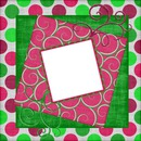 GREEN AND FUCHSIA FRAME