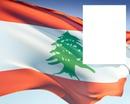 Lebanon flag flying
