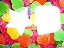 etoile et cube en bonbon.