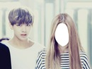 V with girlfriend (YOU)