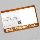 Miss Supranational Card