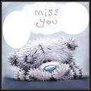 cadre miss you 2 photos et chien