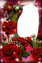 marco de rosas rojas con foto