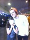 Harry com fã