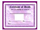 Blank FL: Pet Certificate of Death hdh