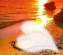 coucher de soleil + coeur