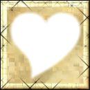 cadre beige coeur