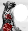 chien loup rose