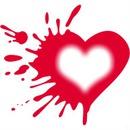 coeur tache de peinture