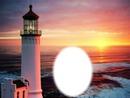 Phare - océan - coucher de soleil