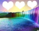 arc en ciel de coeurs