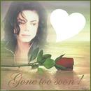 Rose avec le visage de Michael