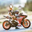 chica en moto